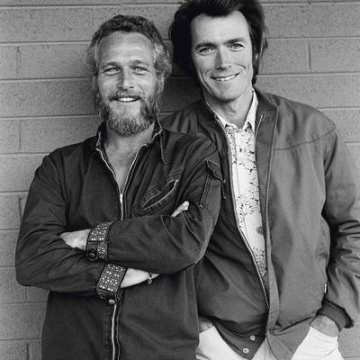Paul Newman and Clint Eastwood Arizona 1972 by Terry O Neill