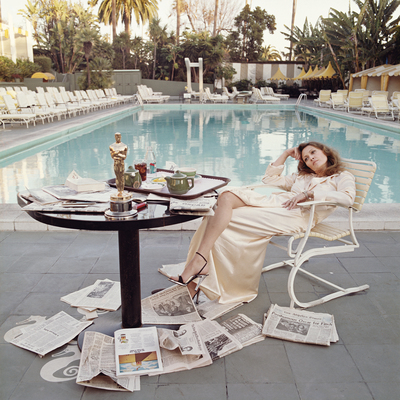 Faye Dunaway Beverly Hills Hotel 1976 by Terry O Neill