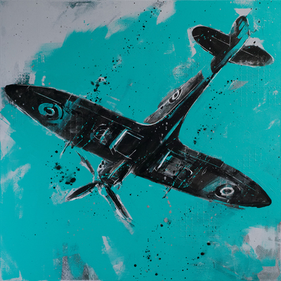 Spitfire Overhead by Richard Knight