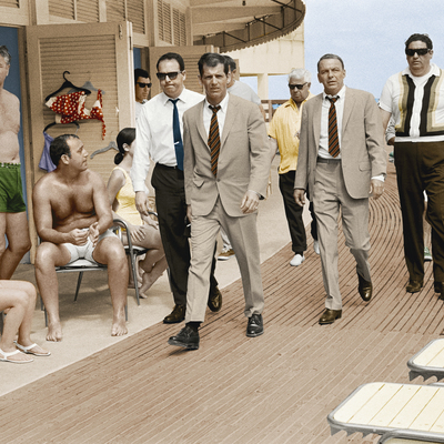 Frank Sinatra Boardwalk Miami 1968 Colourised Version by Terry O Neill