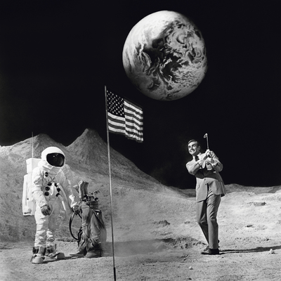 Sean Connery Playing Golf on the Moon 1971 by Terry O Neill