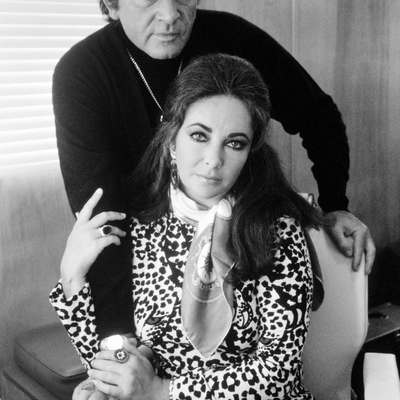 Richard Burton with Elizabeth Taylor London 1971 by Terry O Neill