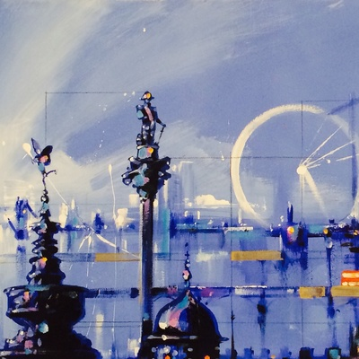 Blue Landscape London Montage by David Pilgrim