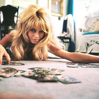 Brigitte Bardot Playing Cards 1965 by Douglas Kirkland