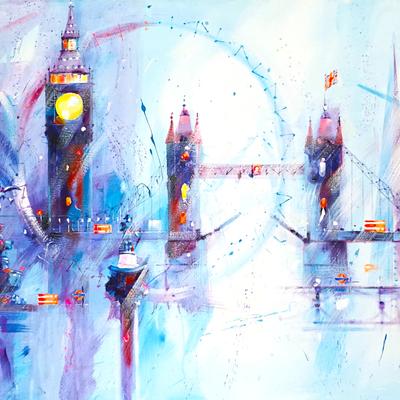 Pale Blue Landscape London Montage by David Pilgrim