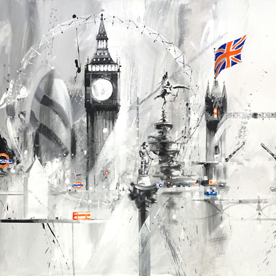 Black and White London Montage by David Pilgrim