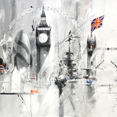 Black and White London Montage by David Pilgrim