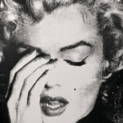 Marilyn Crying Black and White by Russell Young