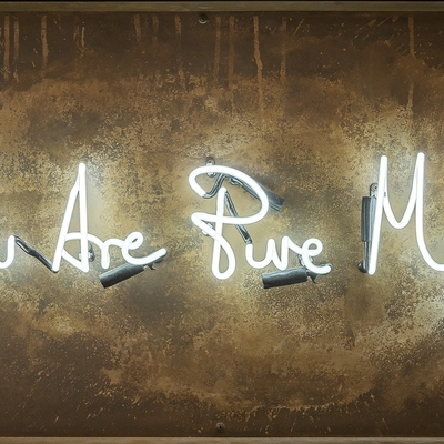 You Are Pure Magic Neon - Aged Steel by Lauren Baker
