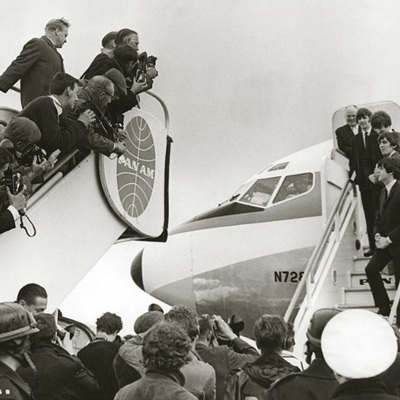 The Beatles leaving Heathrow Airport for the US - Feburary 1964 by Terry O Neill