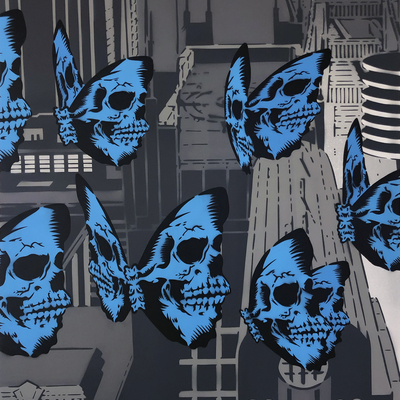 Skullerfly City Triptych - Part 2  by Rich Simmons