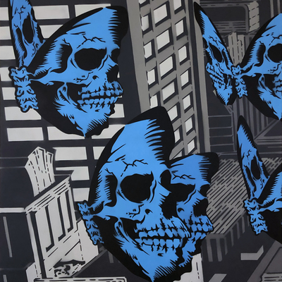 Skullerfly City Triptych - Part 1  by Rich Simmons
