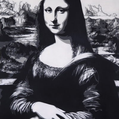 Mona Lisa - Greyscale by Rich Simmons