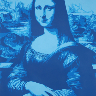 Mona Lisa - Blue by Rich Simmons
