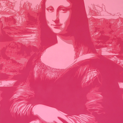 Mona Lisa - Pink by Rich Simmons