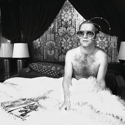 Elton in his Jet by Terry O Neill