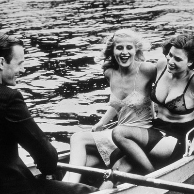 Babes in a Rowboat by Helmut Newton