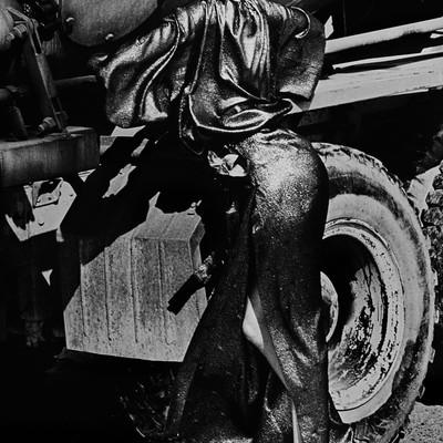 Truck Stop by Helmut Newton