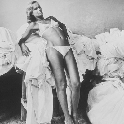 Model in Laundry by Helmut Newton