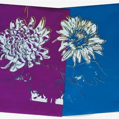 Kiku 1983 - Blue/Purple by Andy Warhol