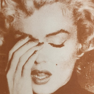 Marilyn Crying - Amber by Russell Young