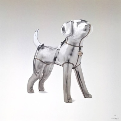 Prada Love - Print - Silver Grey by Agnetha Sjögren