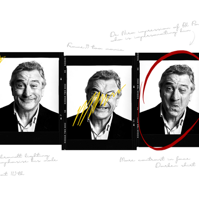 Robert De Niro with photographic notes by Andy Gotts