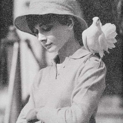 Hepburn with Dove by Simon Claridge