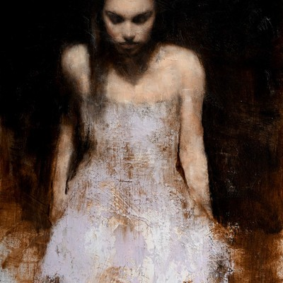 Amy Seated Study 1 by Mark Demsteader