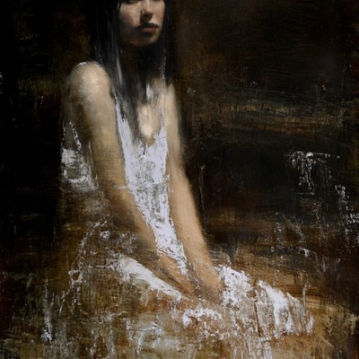 Amy Seated Study 3 by Mark Demsteader