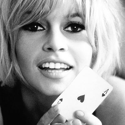 Brigitte Bardot 1965 Ace Of Hearts by Douglas Kirkland