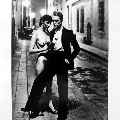 Rue Aubriot with Nude by Helmut Newton