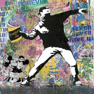 Banksy Thrower by Mr Brainwash