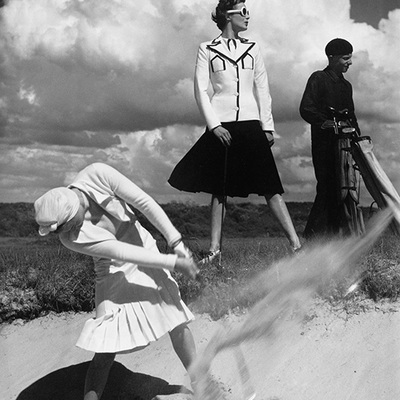 Golfing at Le Touquet by Norman Parkinson
