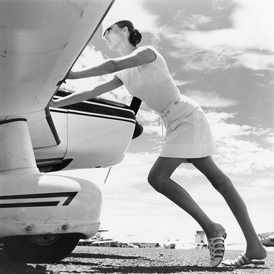 Model and Plane by Norman Parkinson