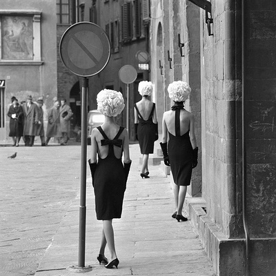 The Italian Collections Three Little Black Dresses by Norman Parkinson