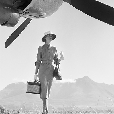 In the Blazing Sun at George Airfield  by Norman Parkinson