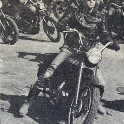 Brando on Bike by Russell Young