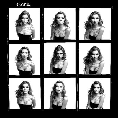 Contact Sheet Kate Moss by Tony Briggs