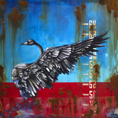 Swan on Rust by Tommy Fiendish